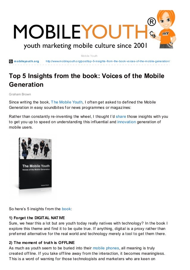 mobileyout h.org http://www.mobileyouth.org/post/top-5-insights-from-the-book-voices-of-the-mobile-generation/ Graham Brow...