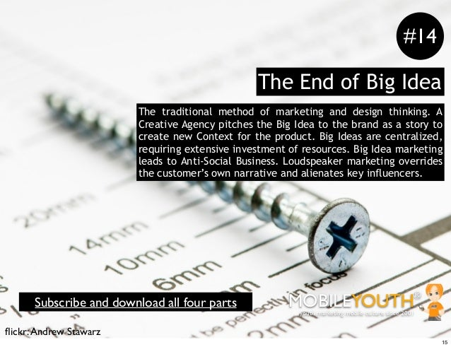 #14                                                The End of Big Idea                        The traditional method of ma...