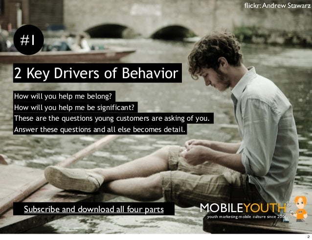 flickr: Andrew Stawarz #12 Key Drivers of BehaviorHow will you help me belong?How will you help me be significant?These are...