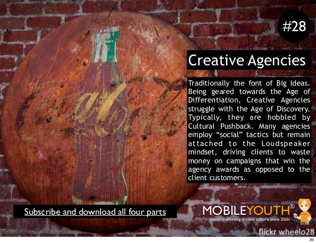 #28                                        Creative Agencies                                        Traditionally the font...