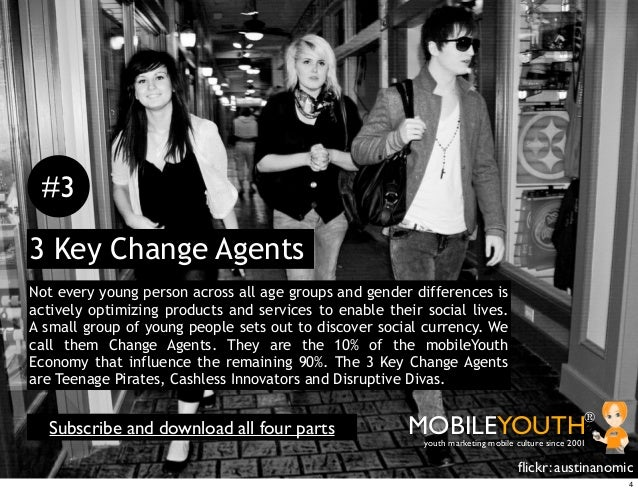 #33 Key Change AgentsNot every young person across all age groups and gender differences isactively optimizing products an...