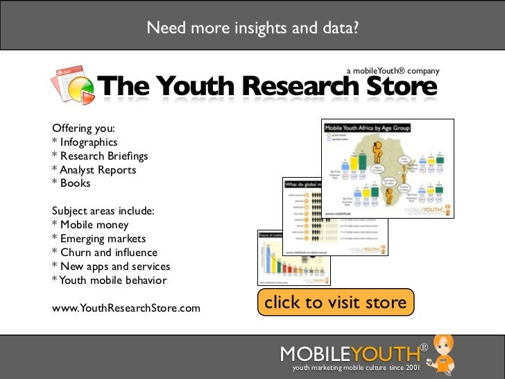 Need more insights and data?                                                      a mobileYouth® company        The Youth ...