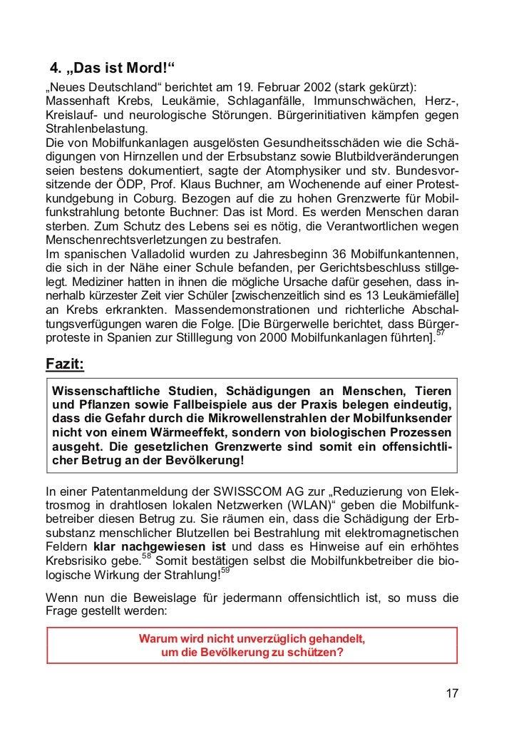 """4. """"Das ist Mord!""""""""Neues Deutschland"""" berichtet am 19. Februar 2002 (stark gekürzt):Massenhaft Krebs, Leukämie, Schlaganfä..."""
