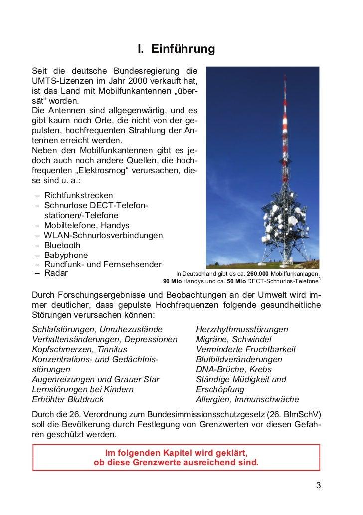 I. EinführungSeit die deutsche Bundesregierung dieUMTS-Lizenzen im Jahr 2000 verkauft hat,ist das Land mit Mobilfunkantenn...