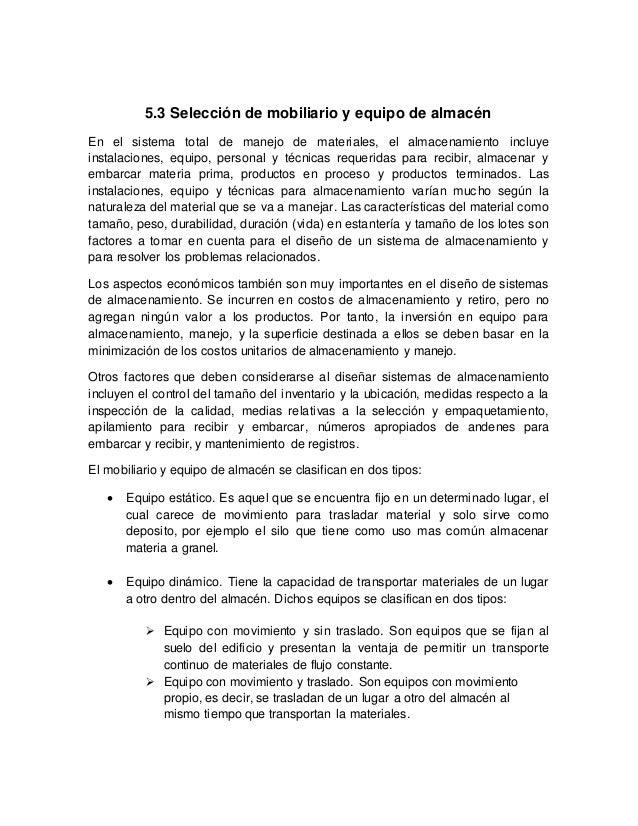 Mobiliario de almac n for Mobiliario y equipo