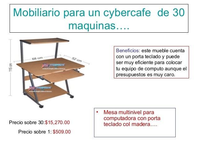 Mobiliario para 30 maquinas de un ciber for Mobiliario para cafes