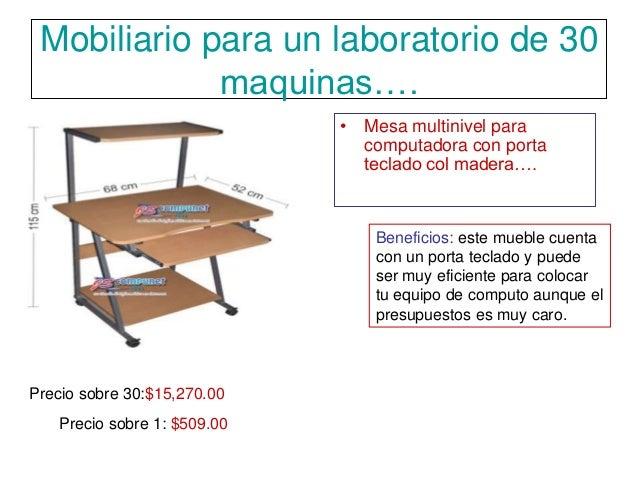 Mobiliario para un laboratorio de 30 maquinas