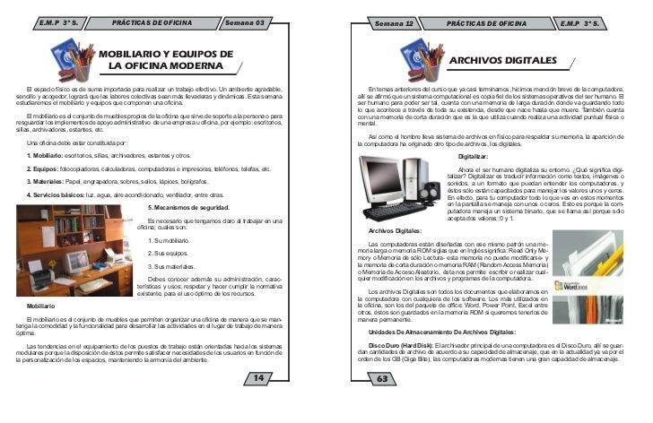 E.M.P 3º S.                  PRÁCTICAS DE OFICINA                          Semana 03                                 MOBIL...