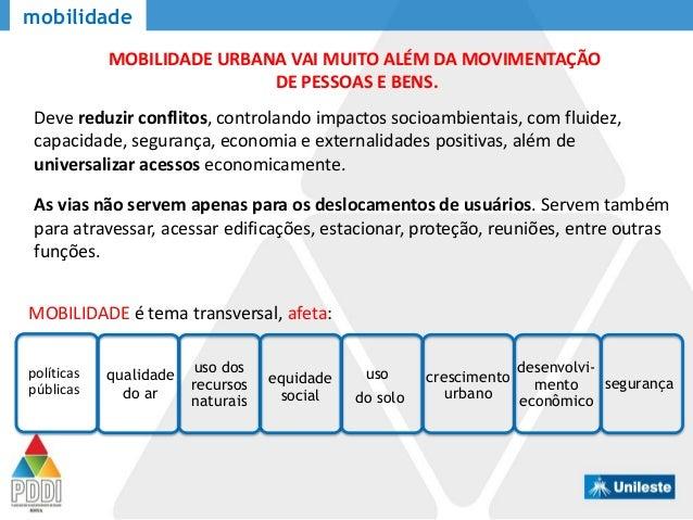 mobilidade políticas públicas qualidade do ar uso dos recursos naturais equidade social uso do solo crescimento urbano des...
