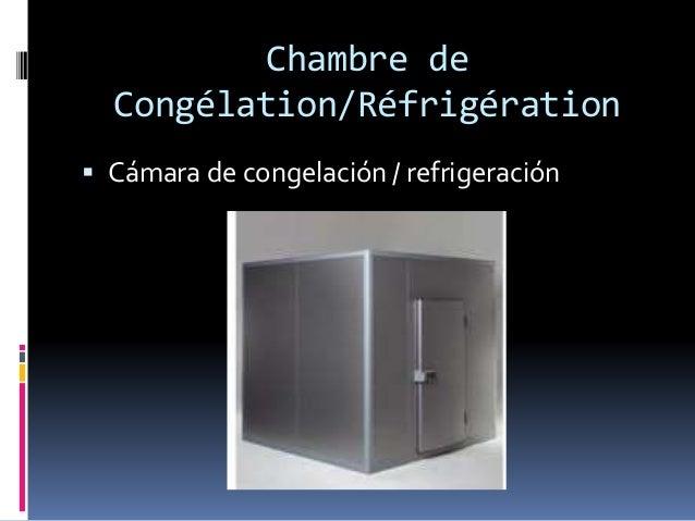 Chambre de Congélation/Réfrigération  Cámara de congelación / refrigeración