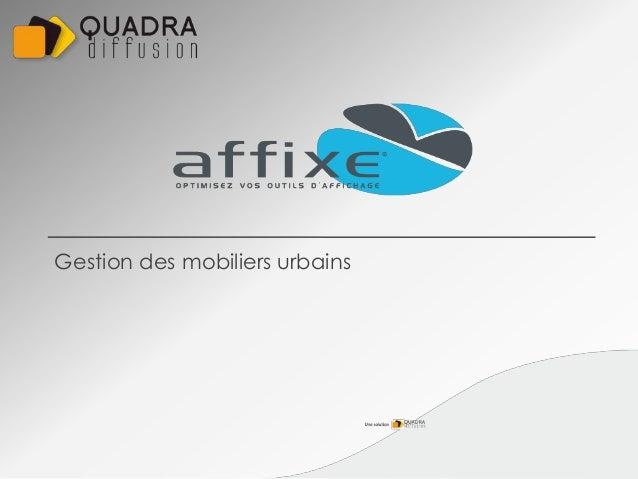 Gestion des mobiliers urbains