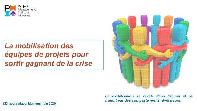 ©Khaoula Alaoui Mamoun, juin 2020 La mobilisation des équipes de projets pour sortir gagnant de la crise La mobilisation s...
