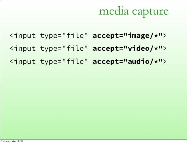 media capture<input type=