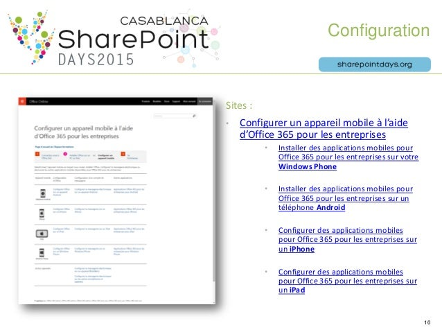 Mobilit 360 pour office 365 sharepoint days casablanca - Comment installer office 365 sur ipad ...