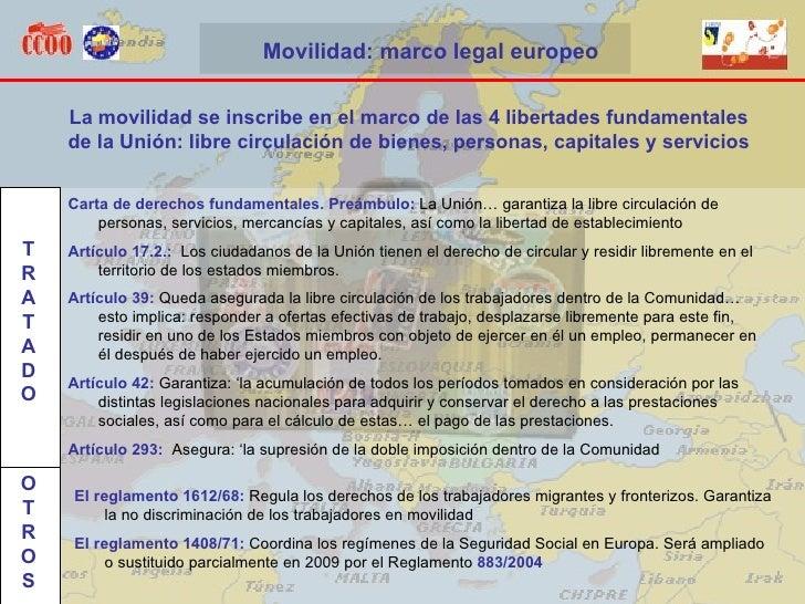 Carta de derechos fundamentales. Preámbulo:  La Unión… garantiza la libre circulación de personas, servicios, mercancías y...