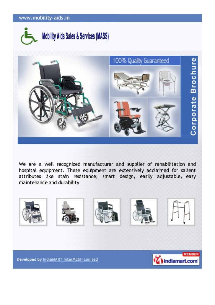 We are a well recognized manufacturer and supplier of rehabilitation andhospital equipment. These equipment are extensivel...