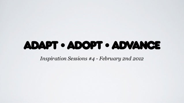 Inspiration Sessions #4 - February 2nd 2012