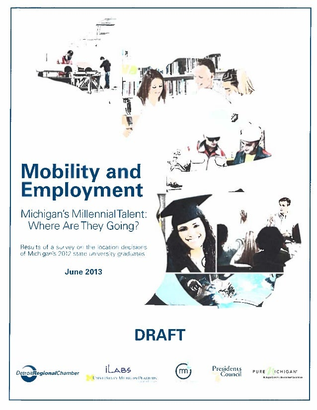 Mobility and Employment: Michigan's Millennial Talent - Where Are They Going?