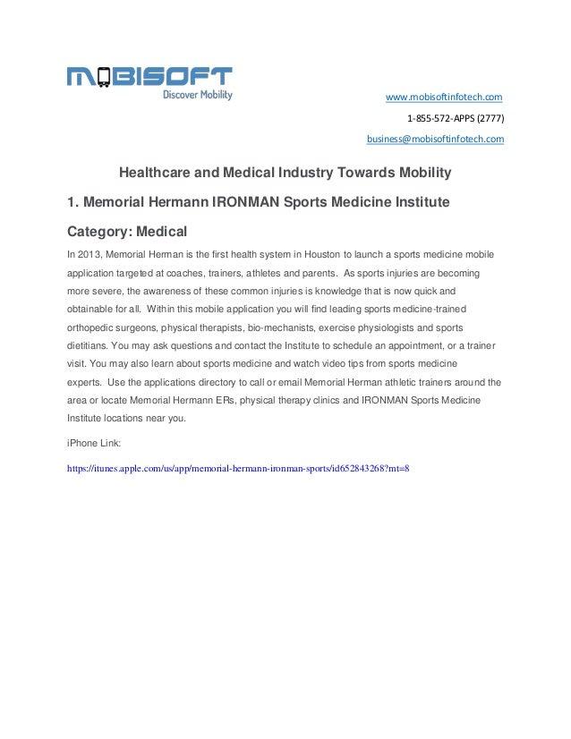 www.mobisoftinfotech.com 1-855-572-APPS (2777) business@mobisoftinfotech.com  Healthcare and Medical Industry Towards Mobi...