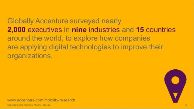 Growing the Digital Business: Accenture Mobility Research 2015 Slide 2