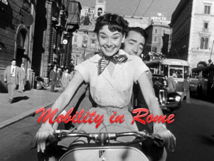 In the city of Rome, there are two main    types of urban mobility.     Cars and Moped Bicycles   Buses   Underground tram