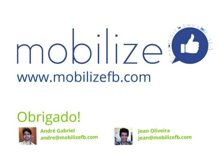 Demo Day Startup Farm Rio de Janeiro 2012 - Equipe Mobilizefb