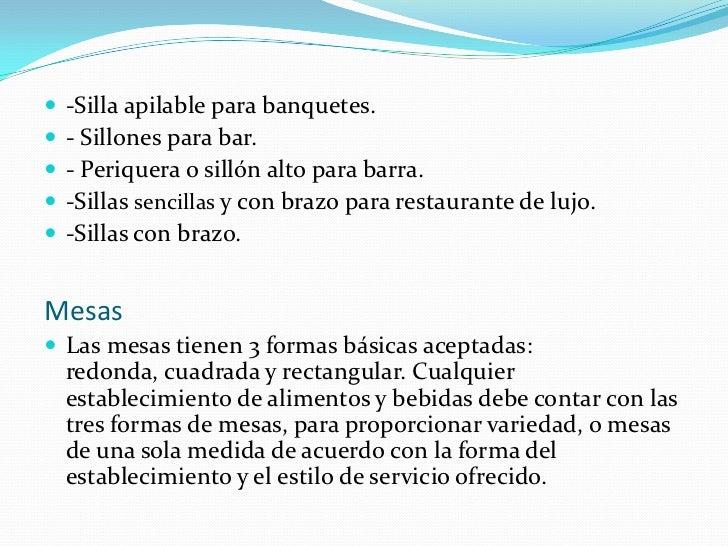 Mobilliario y equipo for Mobiliario y equipo para restaurante