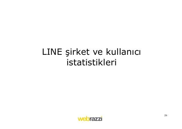 26   LINE şirket ve kullanıcı istatistikleri