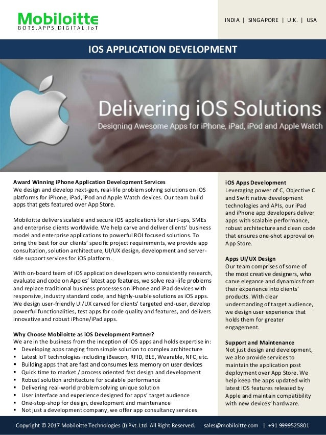 iOS App Development Services Mobiloitte