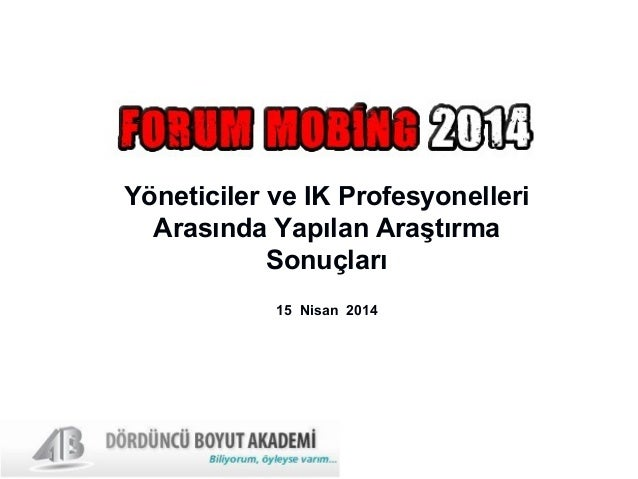 Yöneticiler ve İK Profesyonelleri Arasında Yapılan Araştırma Sonuçları 15 Nisan 2014