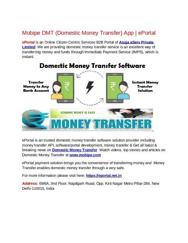 Mobipe DMT (Domestic Money Transfer) App