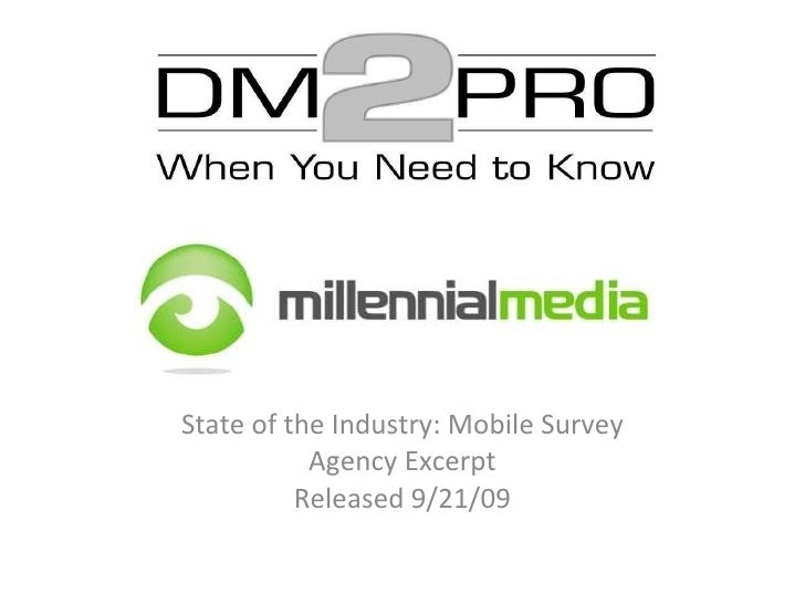 State of the Industry: Mobile Survey Agency Excerpt Released 9/21/09