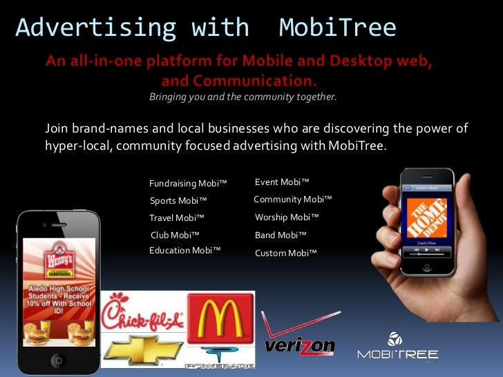 Advertising with                              MobiTree                   Bringing you and the community together.  Join br...