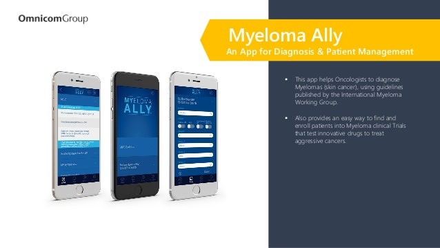 ▪ This app helps Oncologists to diagnose Myelomas (skin cancer), using guidelines published by the International Myeloma W...