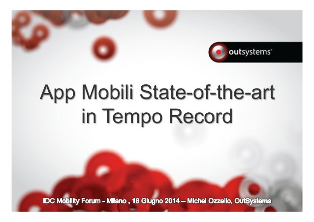 App Mobili State-of-the-art in Tempo Record