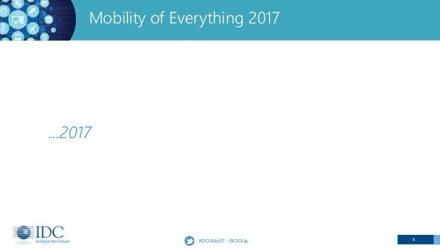 4#IDCMobiz17 - @IDCItaly …2017 Mobility of Everything 2017