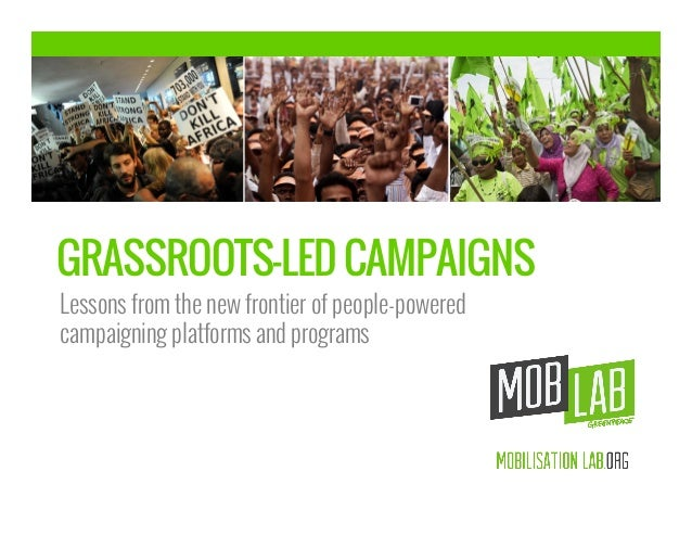 GRASSROOTS-LED CAMPAIGNS Lessons from the new frontier of people-powered campaigning platforms and programs