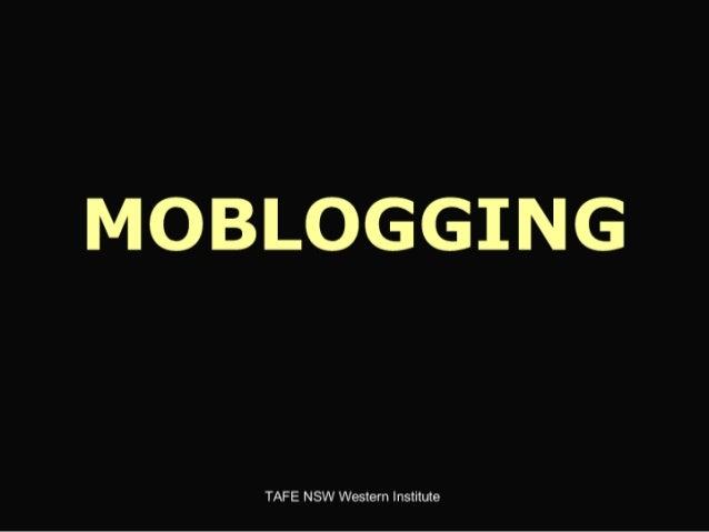 Moblogging