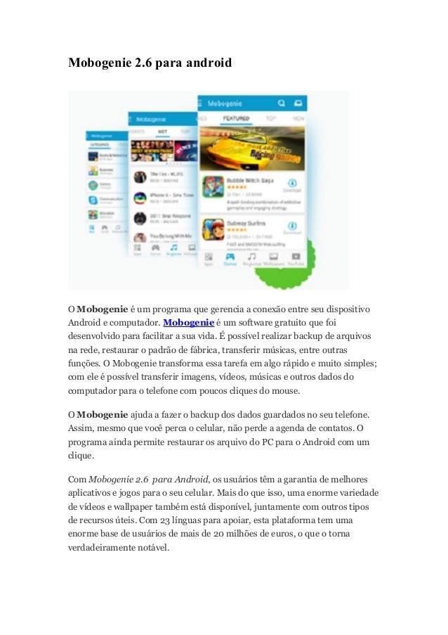 Mobogenie Android Version 2 6 // grotvirrili gq