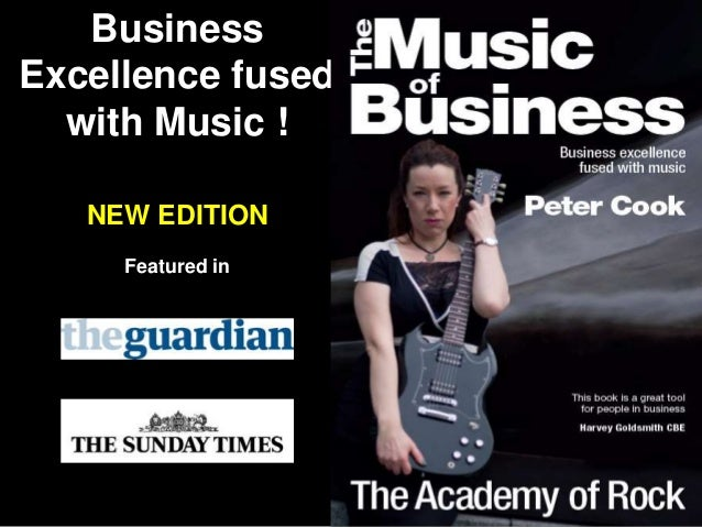 Business Excellence fused with Music ! NEW EDITION Featured in