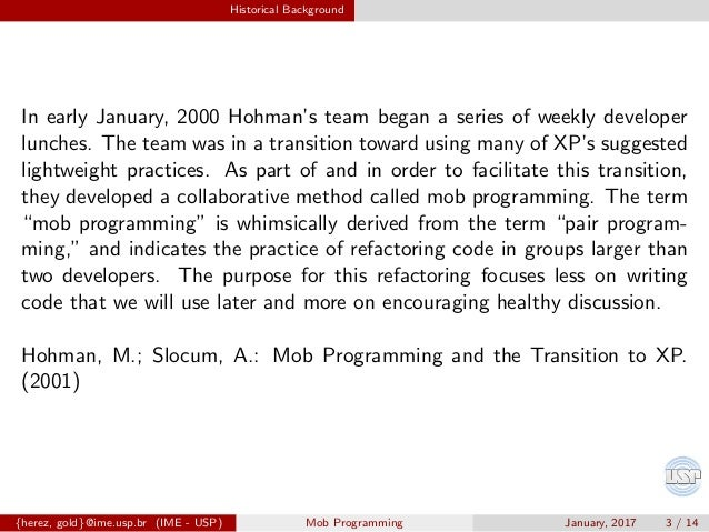 Introduction to Mob Programming Slide 3