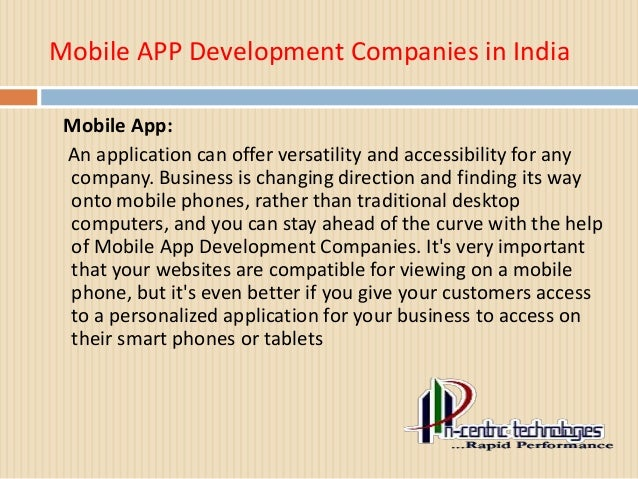 Mobile App Development Companies in India Slide 2