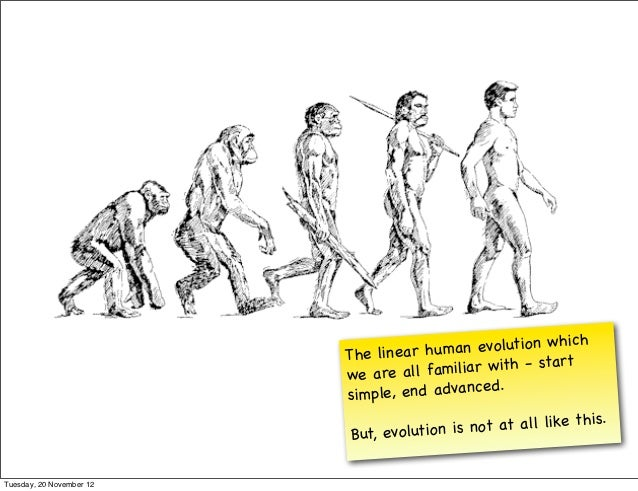 h                          The linear hu m  an evolution whic                          we are all fam   iliar w ith - star...