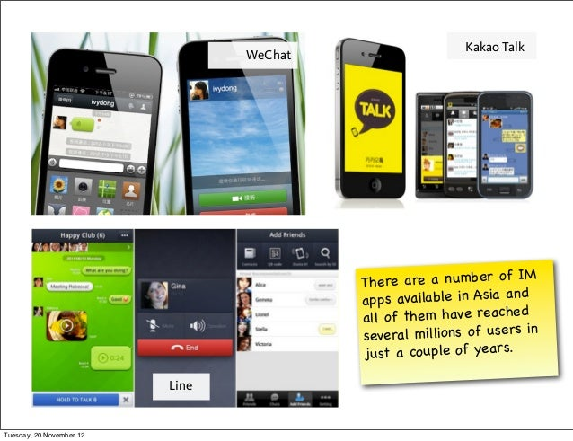 Kakao Talk                                 WeChat                                          Th ere are a nu mber of IM     ...