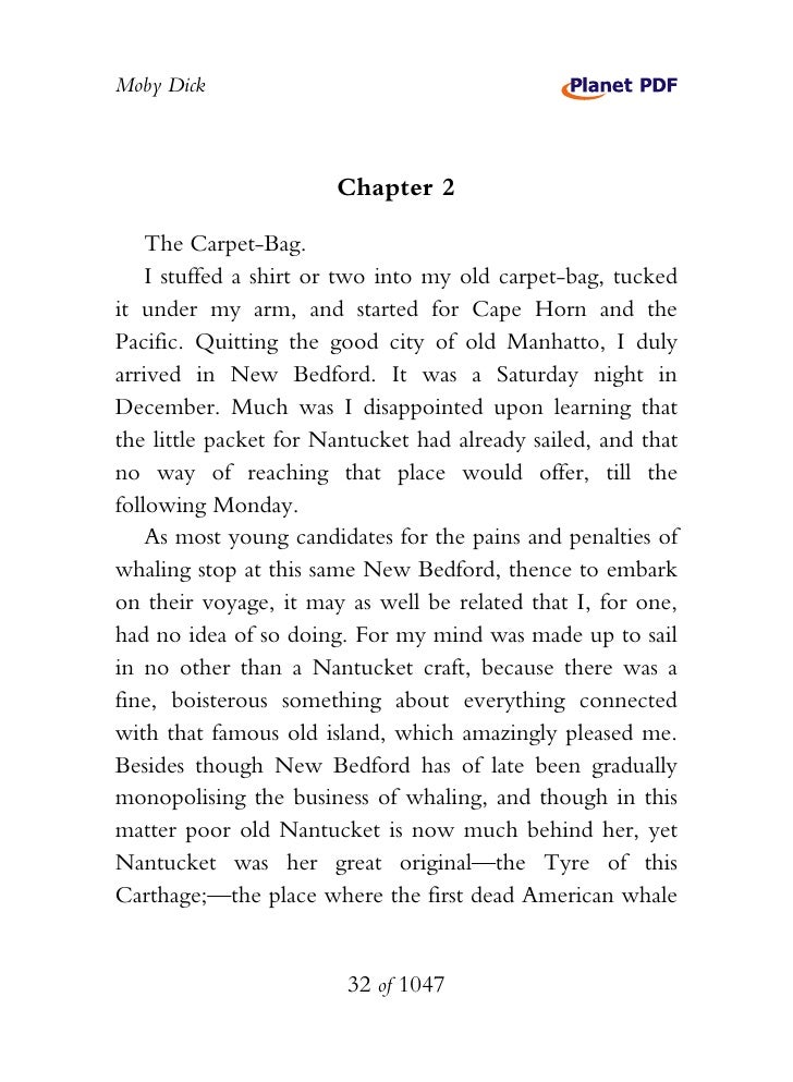 Moby dick chapter 71 questions