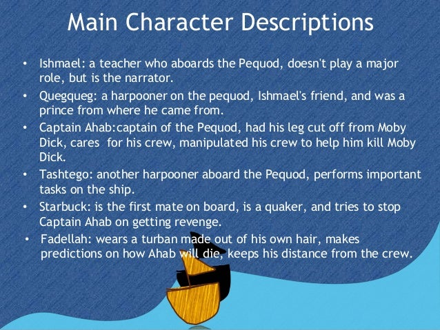 Moby dick main characters