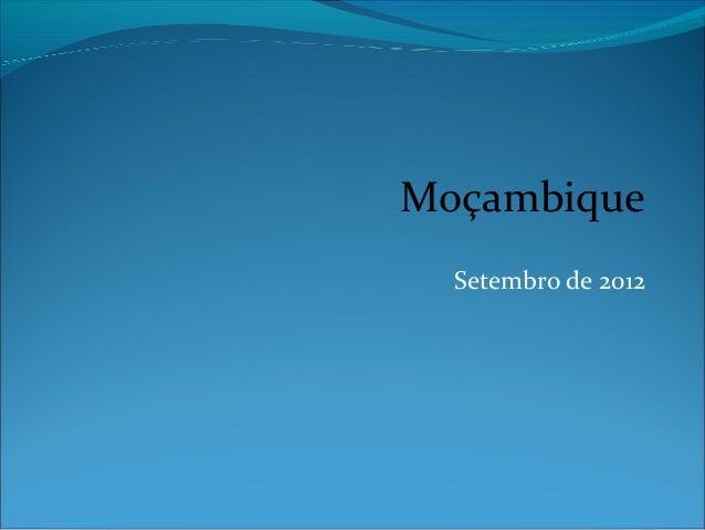 Moçambique  Setembro de 2012