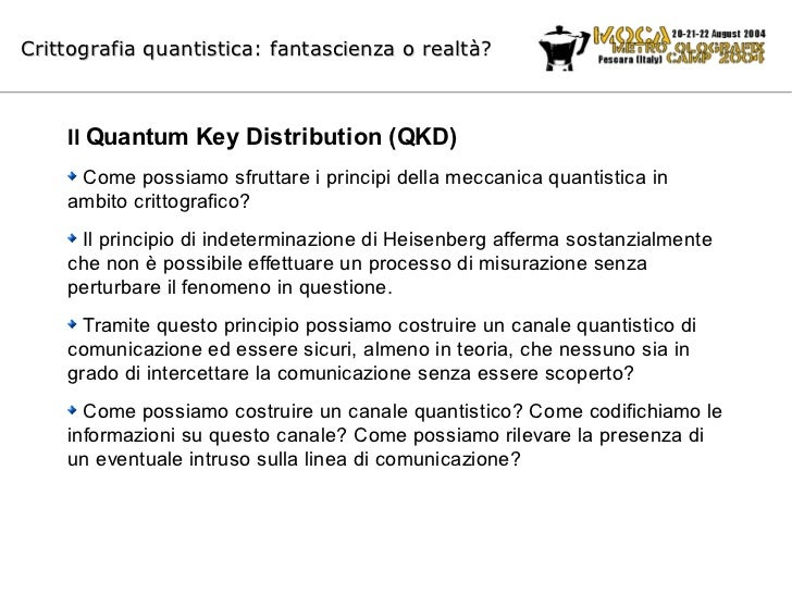 Crittografia quantistica: fantascienza o realtà?