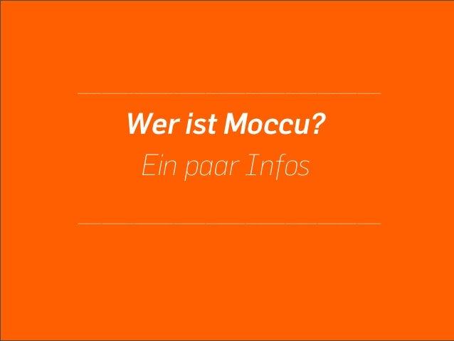 Moccu  2nd screen Slide 2
