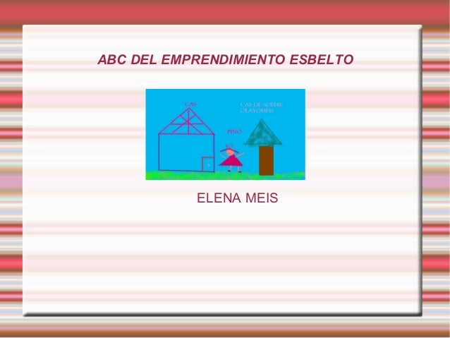 ABC DEL EMPRENDIMIENTO ESBELTO ELENA MEIS